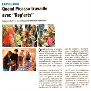 Reg'Arts Pablo Picasso 2015