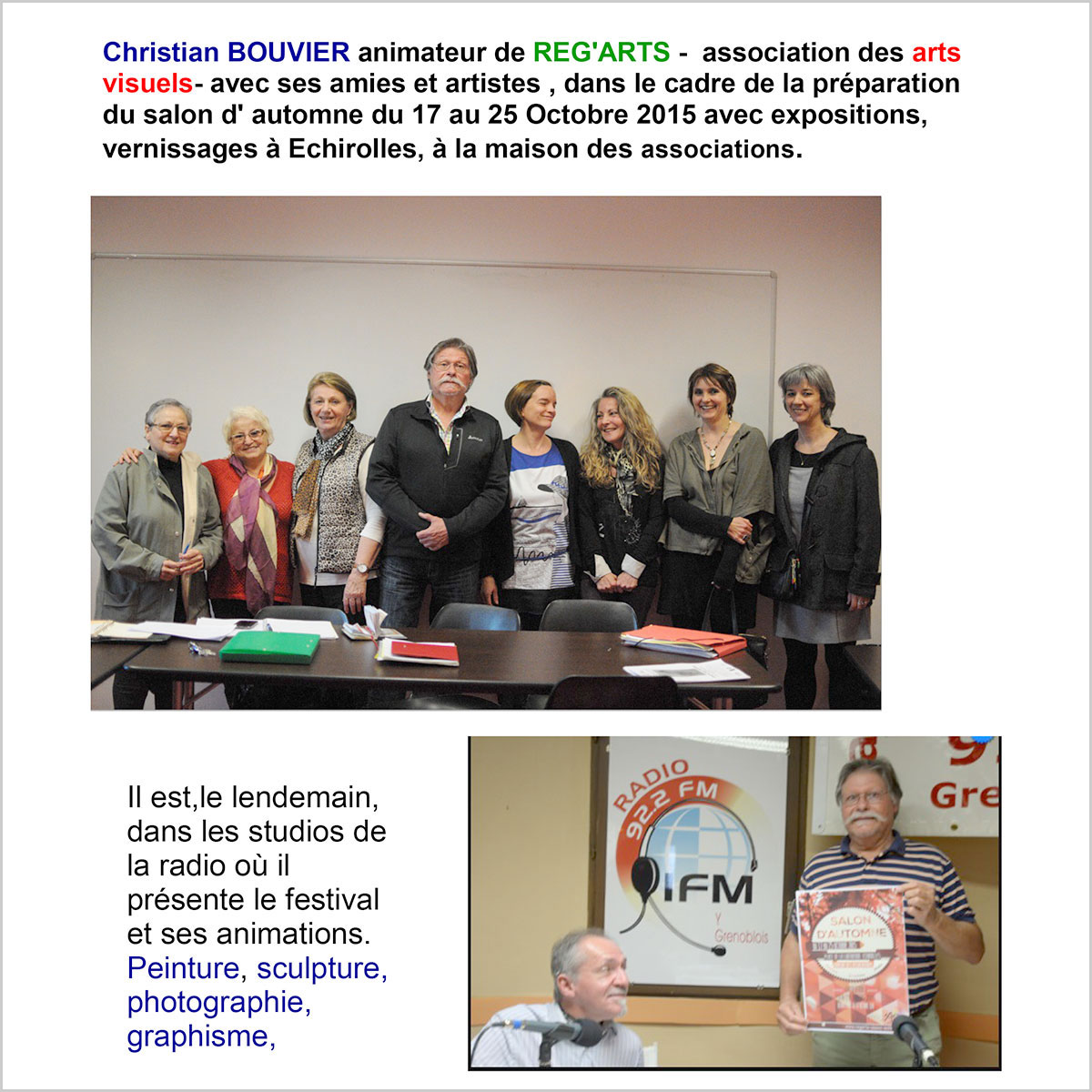 radio IFM Reg'Arts Salon Automne 2015